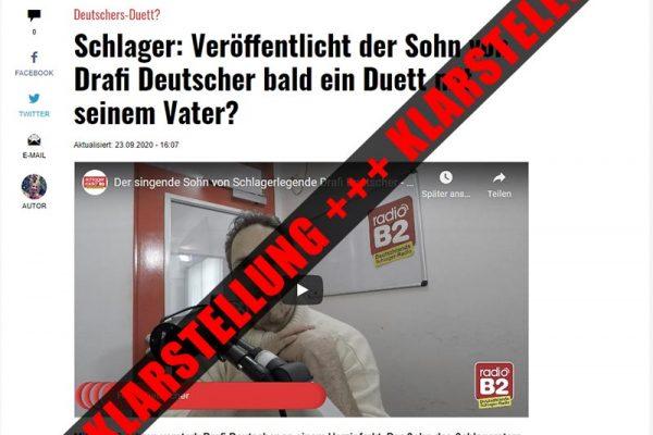 Klarstellung René Deutscher