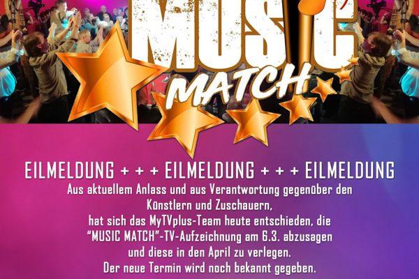 Music Match Absage